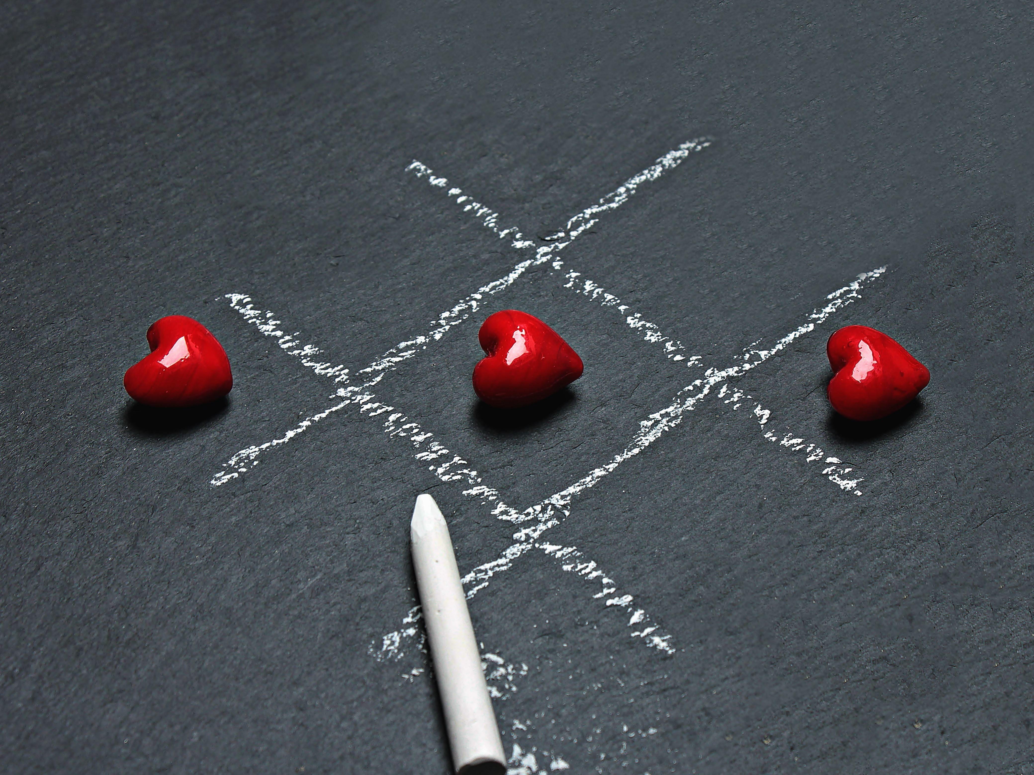 Free Picture Heart Chalk Game Heart Blackboard