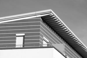 Techo, ventana, arquitectura, casa, balcón