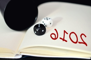dice, notes, paper, game, cup