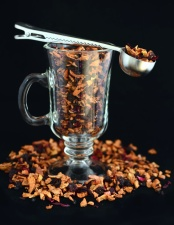 sušené ovoce, čaj, výživné, sklo, jídlo, lžíce