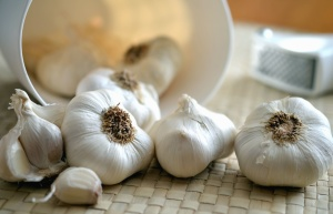garlic, plant, food, table, cooking