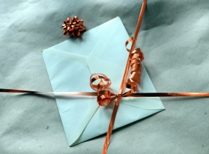 envelope, binding, ribbon, letter, message