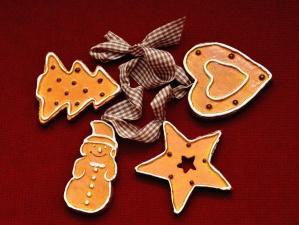 cookie, lahodné, jídlo, srdce, hvězda