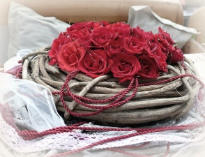rose, flower, rope, bouquet, petal, decoration