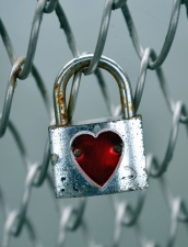 wire, padlock, heart, love, loyalty, metal