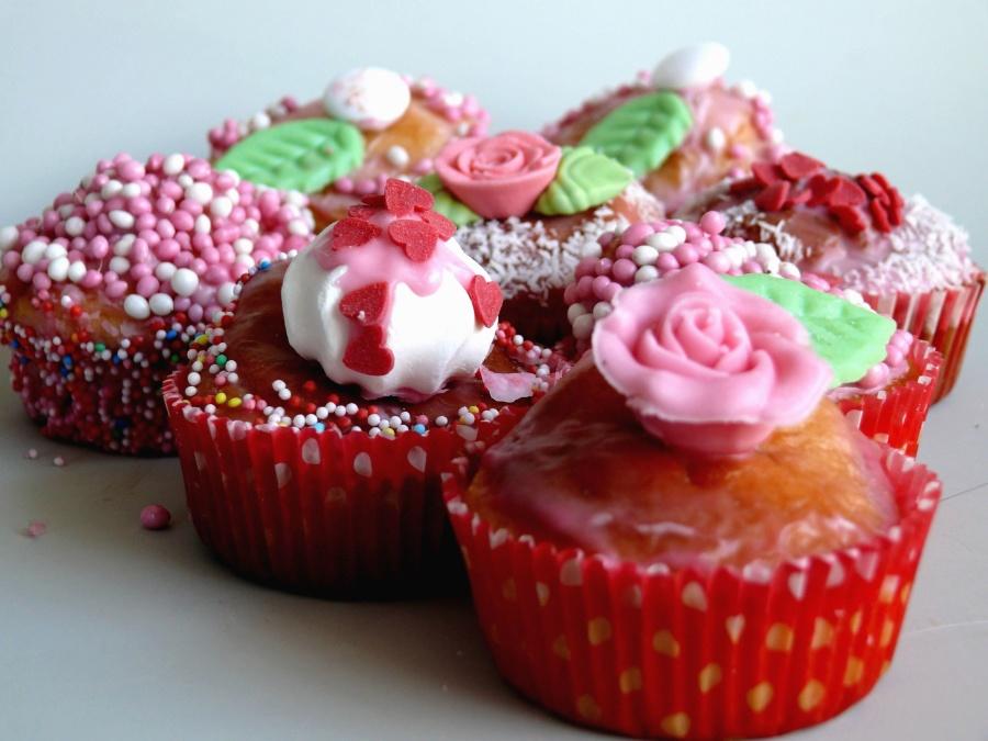 tortu, dekorácie, výborné, dezert, sladké