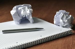 paper, note, pencil, desk