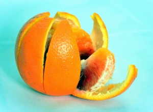 orange, peel, fruit