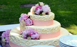 wedding cake, dessert, decoration