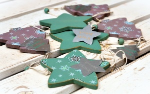 fir, star, decoration, table, tree, christmas
