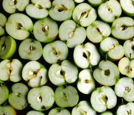 apple, fruit, food, green