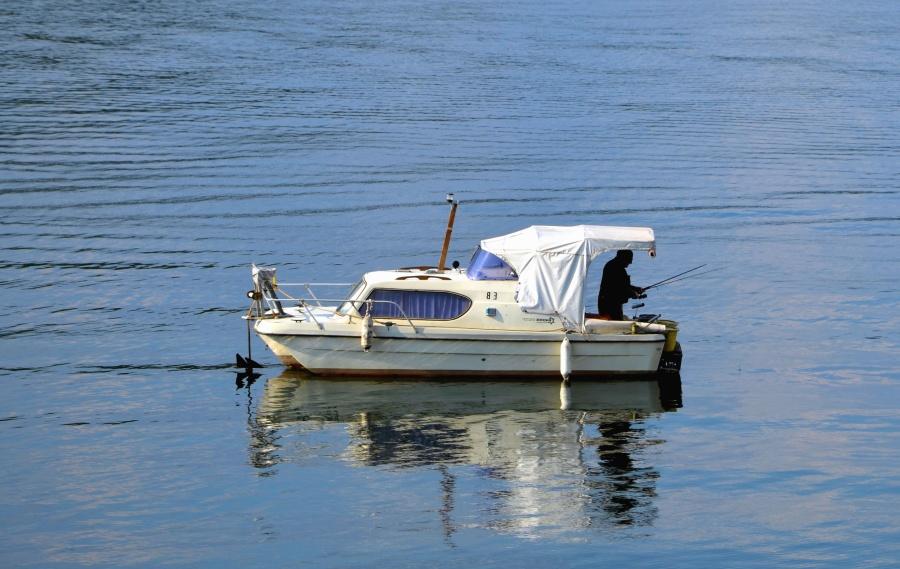 лодка, вода, река, Риболов, човече