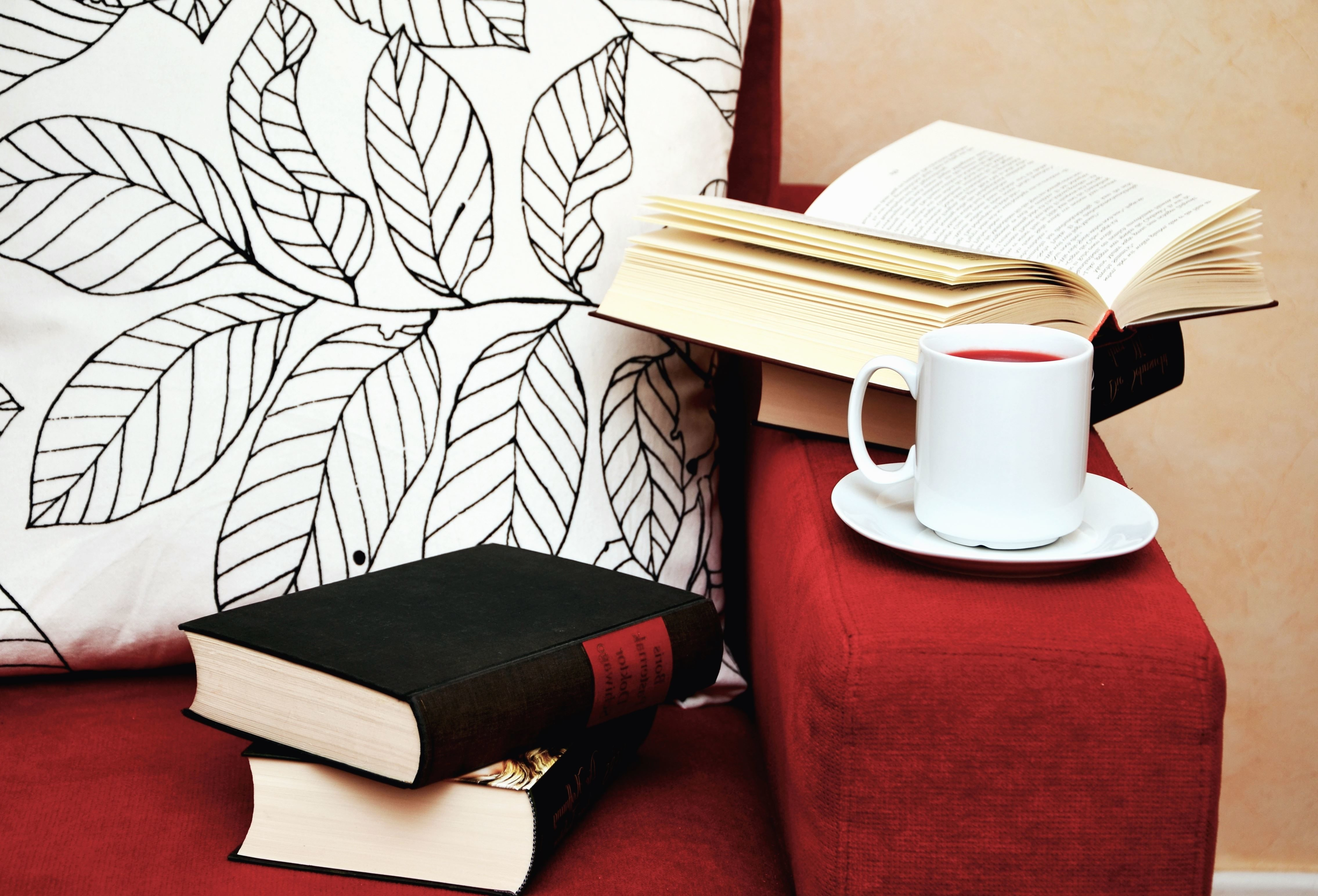 Cup Tea Book Chair Learning Study