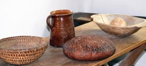 Tavola, ceramica, ceramica, pane, cereali