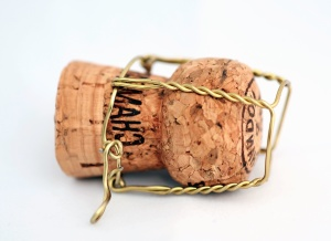 cork, wire, drink, wood