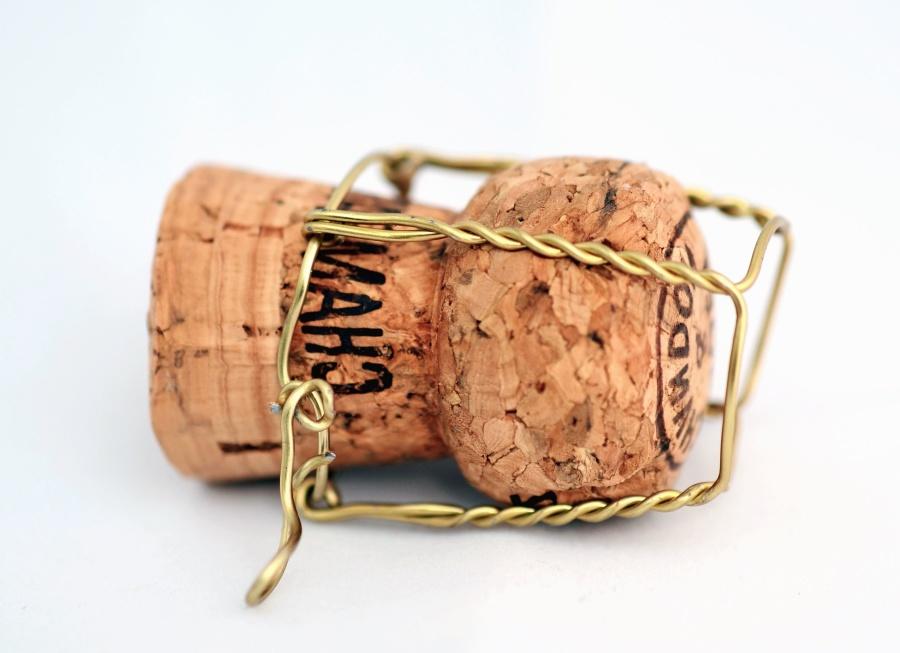 Cork, drut, napój, drewno