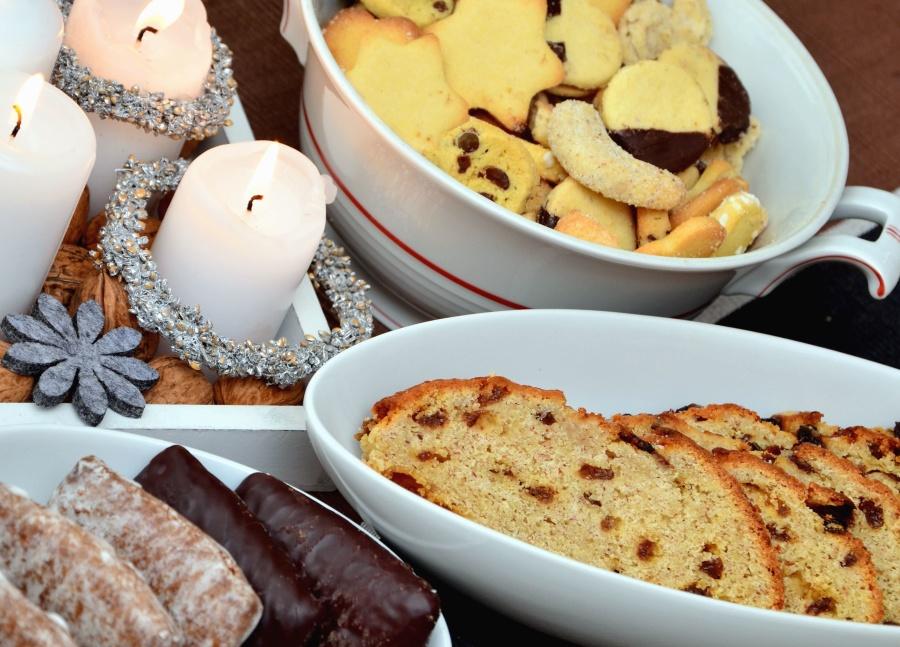 свещ, сладки, торта, бисквитка
