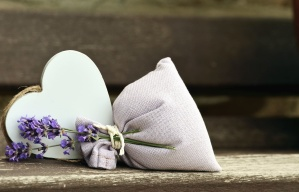 lavender, heart, bags, wood, love