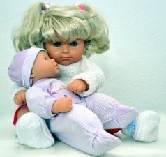 doll, cloth, head, hair, childhood, girl