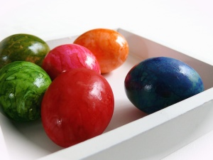 egg, easter, paint, color, colorful, bowl