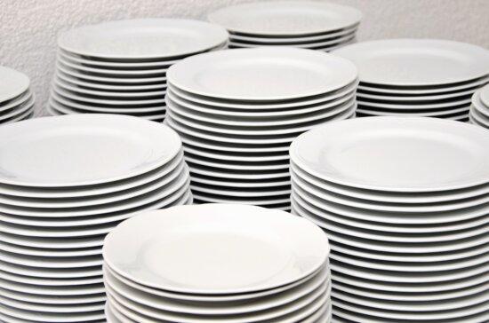 plate, ceramics, food