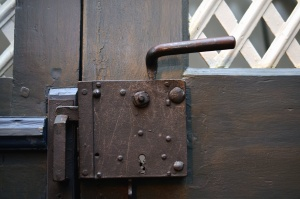Puerta, metal, cerraduras, seguridad, antigüedad