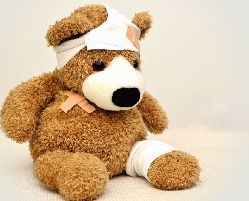 Free Picture Teddy Bear Bandage Sick