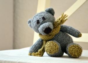 scarf, teddy bear, toy, childhood