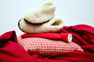 shoes, pillow, fabric, red