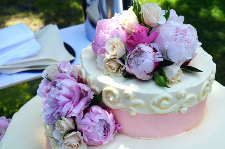 cake, flowers, decorations, wedding, food