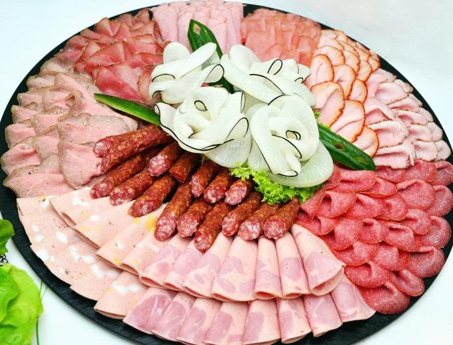 kobasice, šunka, pršut, ukras, meso, hrana