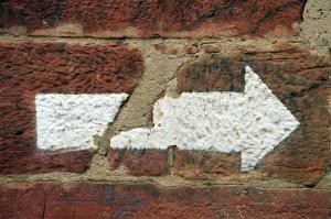 sign, wall, brick