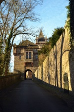 castle, historical, road, arch, architecture