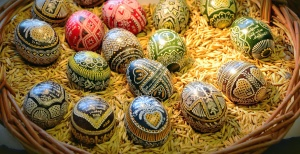 egg, basket, easter, colors, colorful, nest