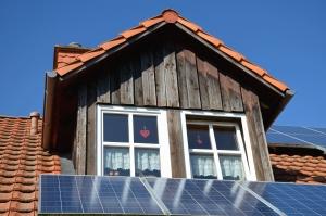 solar panel, roof, window, energy, house