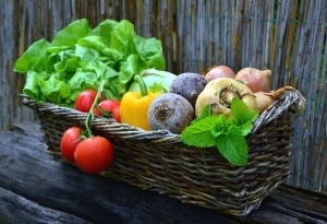 vegetable, tomato, pepper, basket, food