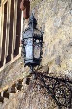 Art, métal, architecture, lampe