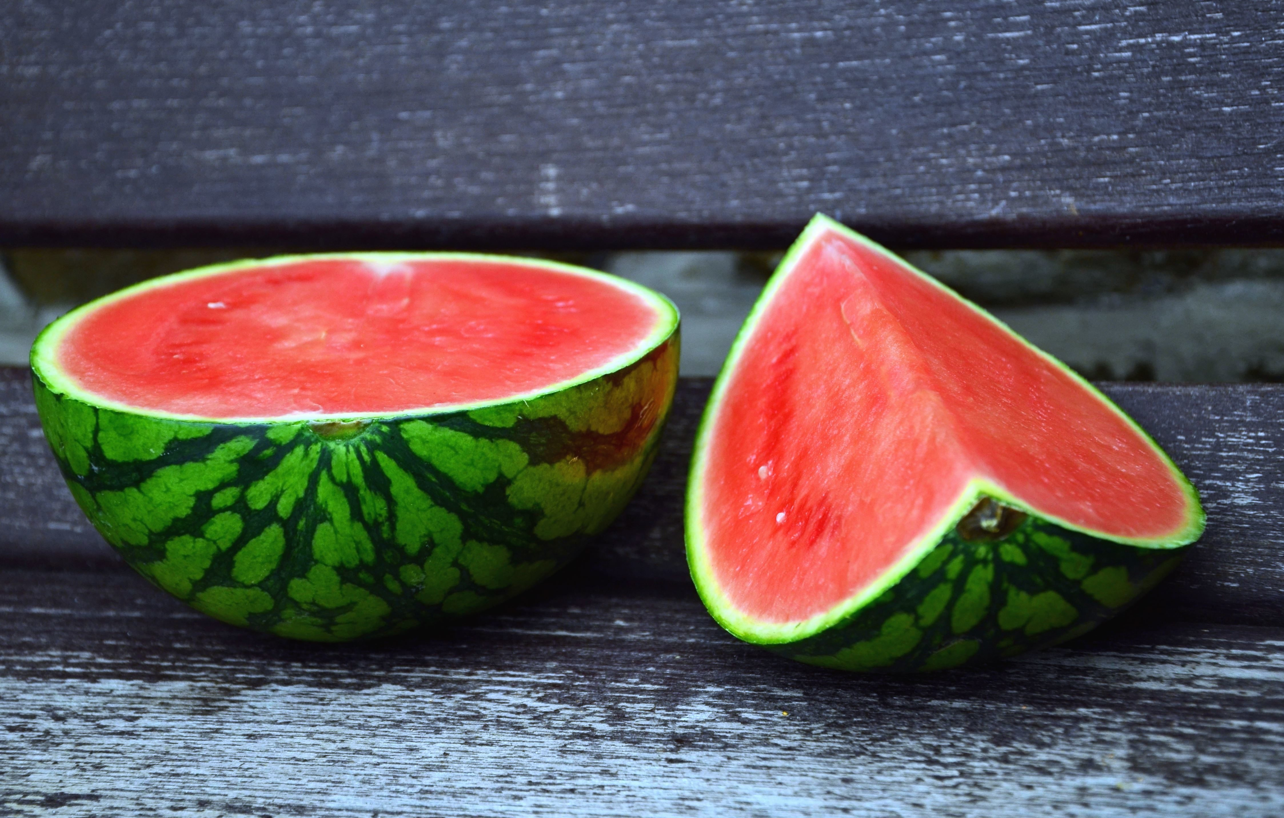 Geliebte Kostenlose Bild: Wassermelone, Gemüse, Bank, Holz @TV_51