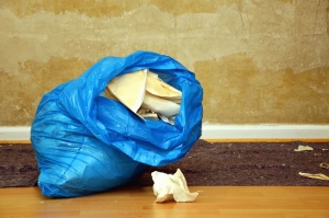 bag, paper, wall, trash, wallpaper