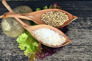 salt, seed, leaf, lettuce