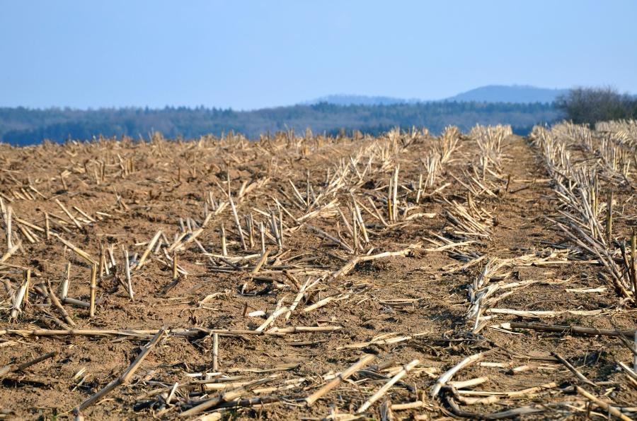 upraw, gleby, góry, niebo, pole, jesień