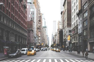 downtown, street, city, day