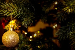 jul, träd, prydnad