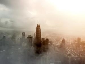city, cloud, smoke, fog, mist