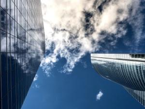 cloud, building, tower