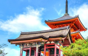 colorful, Japan, temple