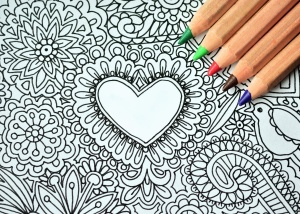 pencil, heart, art, drawing, color