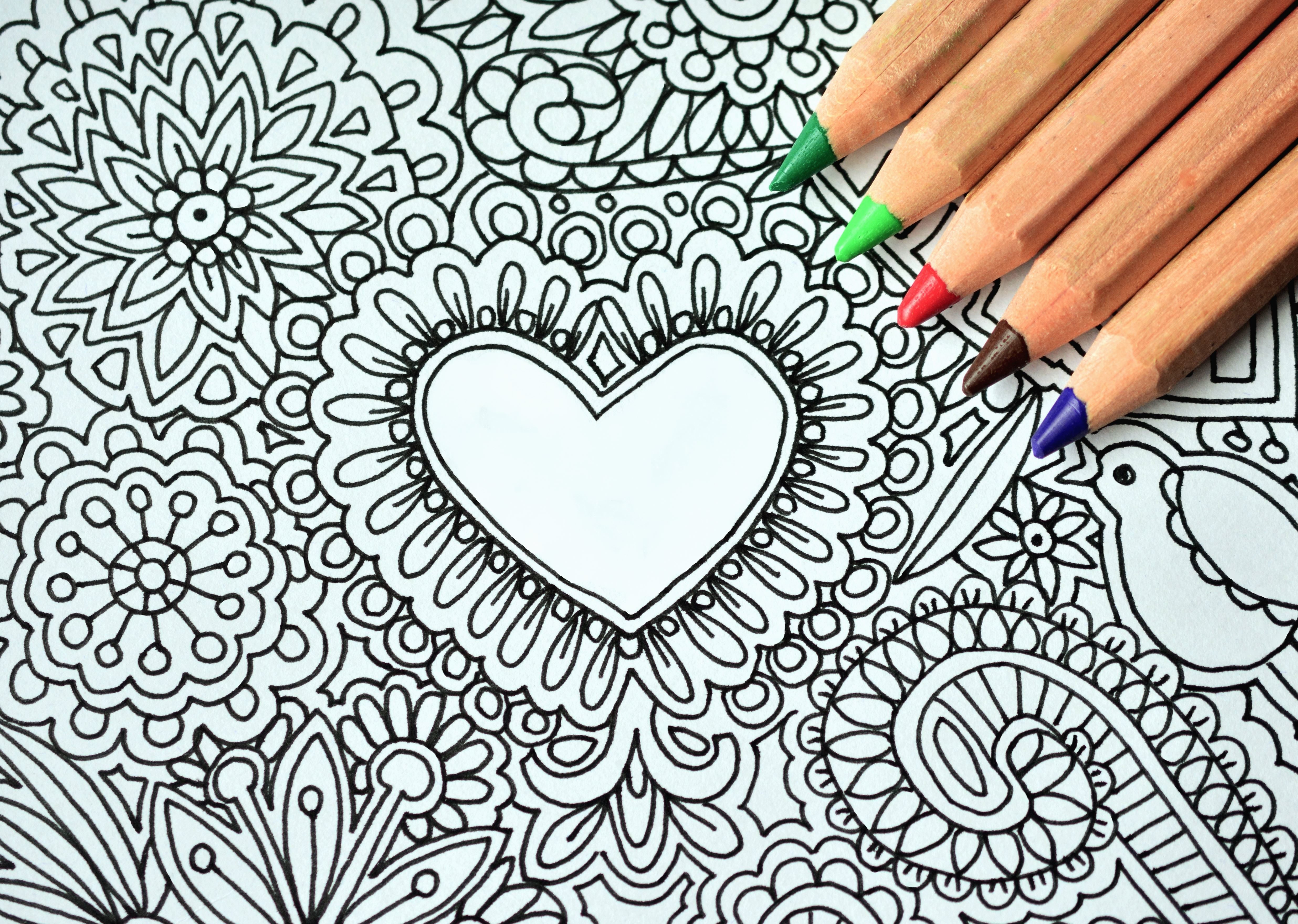 Drawingcolor Free Picture Pencil Heart Art Drawing Color