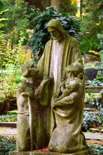 sculpture, art, statue, Jesus, garden