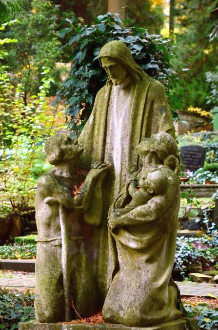 sculpture, art, statue, Jesus, garden